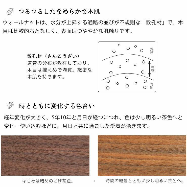 ブラックチェリー材とウォールナット材使用したおしゃれなオリジナルデザインの こたつテーブル長方形120cm幅_詳細09