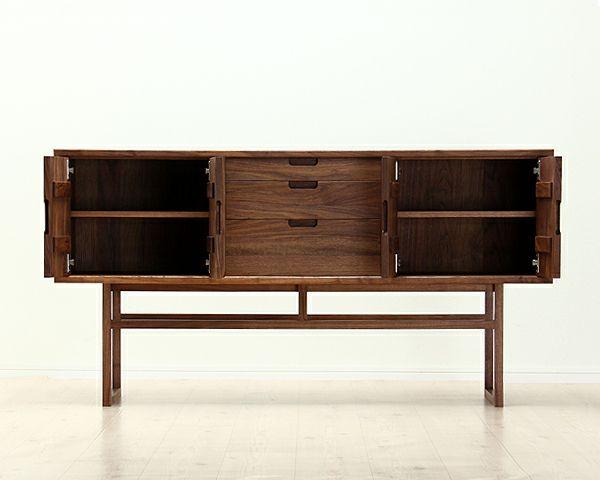 こだわりの詰まった木製リビングボード157cm幅「salvia(サルビア)」_詳細02