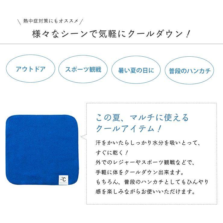 100percent -℃ MINUS DEGREE 触ると冷たい冷感素材ハンドタオル(1枚)_詳細05