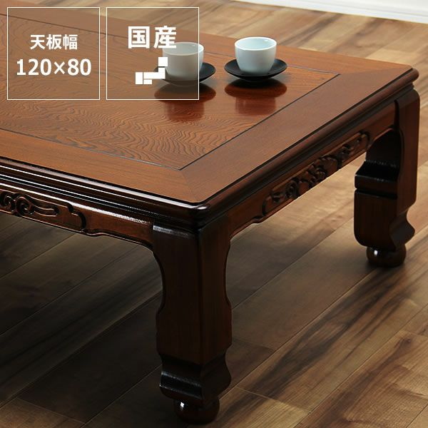 こたつテーブル 長方形120cm幅 栓材_詳細01