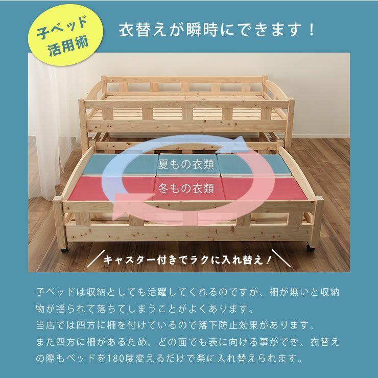生活スタイルに合わせて変化する三段ベッド(上段+中段+下段)_詳細08