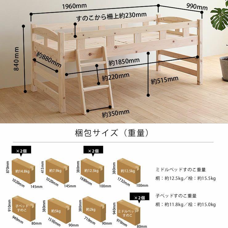 生活スタイルに合わせて変化する三段ベッド(上段+中段+下段)_詳細12