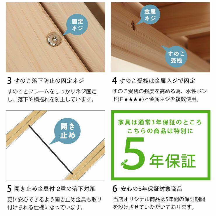 生活スタイルに合わせて変化する三段ベッド(上段+中段+下段)_詳細18