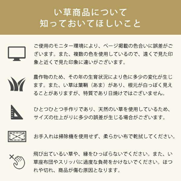 い草ラグ・カーペット「OtO」 ラグマット LL(240×190cm)_詳細03