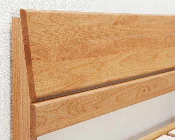 シンプルなデザインのアルダー材の木製すのこベッド シングルサイズポケットコイルマット付_詳細02