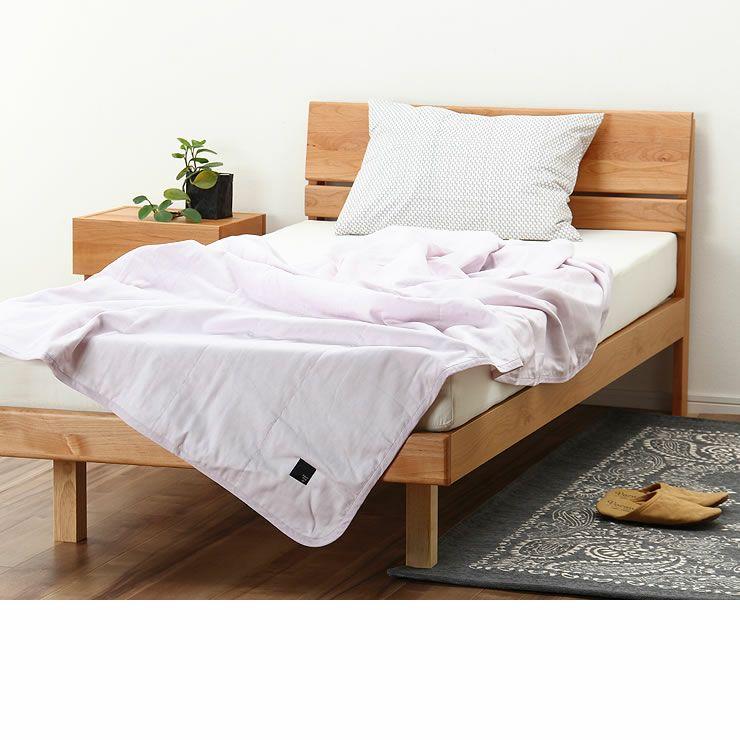 シンプルなデザインのアルダー材の木製すのこベッド シングルサイズポケットコイルマット付_詳細17