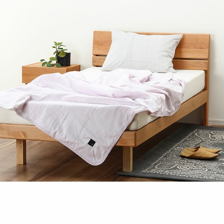 シンプルなデザインのアルダー材の木製すのこベッド シングルサイズ心地良い硬さのZTマット付_詳細17