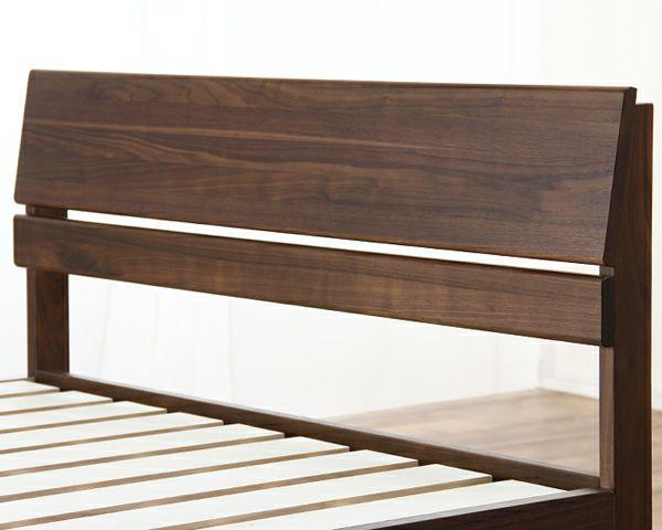 シンプルなデザインのウォールナット材の木製すのこベッド シングルサイズフレームのみ_詳細02