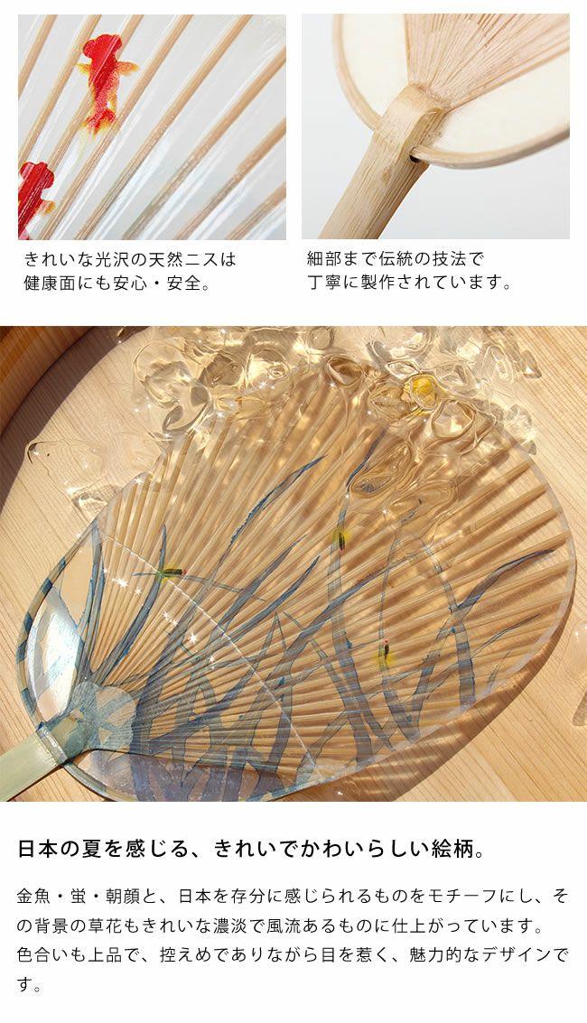 カミノシゴト(家田紙工)水うちわ小判型(1枚)_詳細05