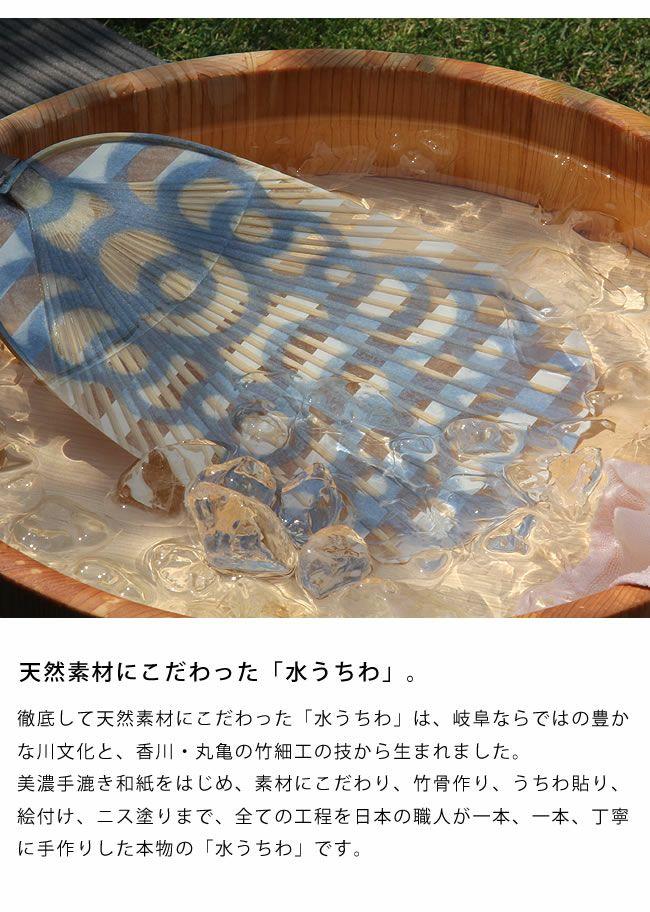 カミノシゴト(家田紙工)HIROCOLEDGE&Co.シリーズ水うちわ小判型(1枚)_詳細04