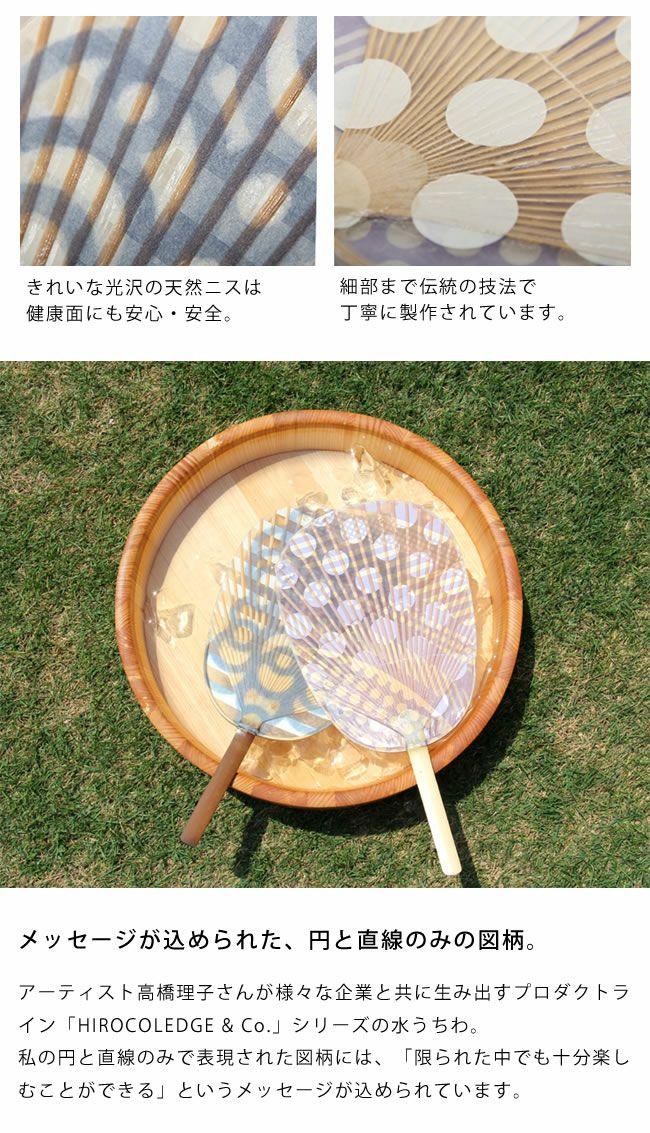 カミノシゴト(家田紙工)HIROCOLEDGE&Co.シリーズ水うちわ小判型(1枚)_詳細05
