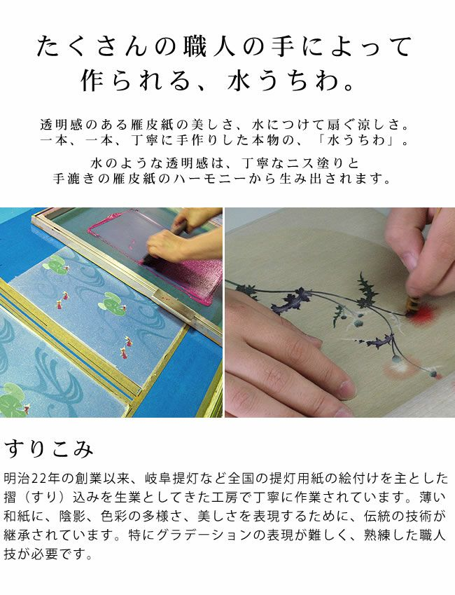 カミノシゴト(家田紙工)HIROCOLEDGE&Co.シリーズ水うちわ小判型(1枚)_詳細10