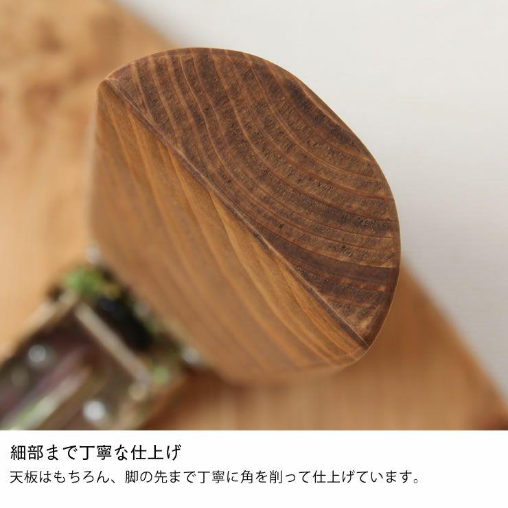 国産ひのき材を使用した折りたたみ式ちゃぶ台90cm_詳細12