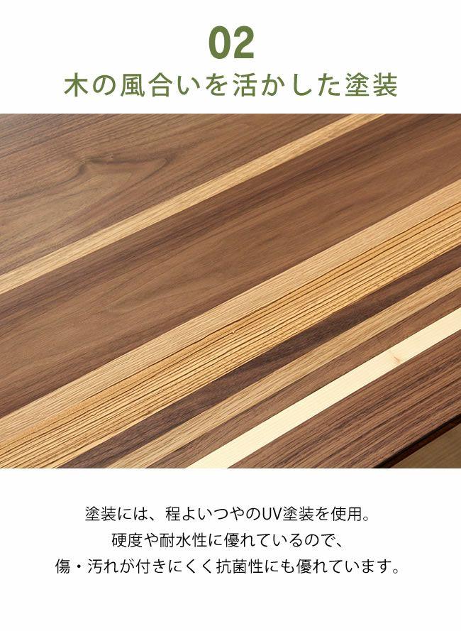 こたつテーブル 長方形120cm幅 天然杢5種_詳細08