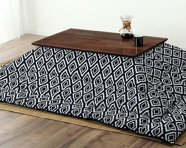 こたつテーブル 長方形105cm幅 ウォールナット材_詳細03