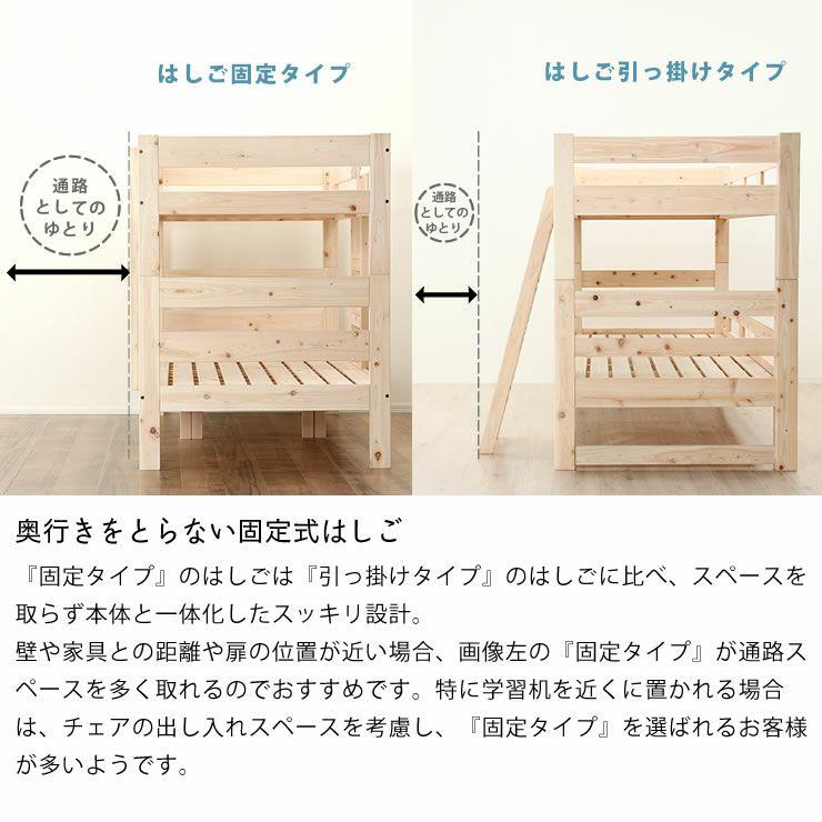 特許申請中!国産ひのき香るセパレート式二段ベッド_詳細10