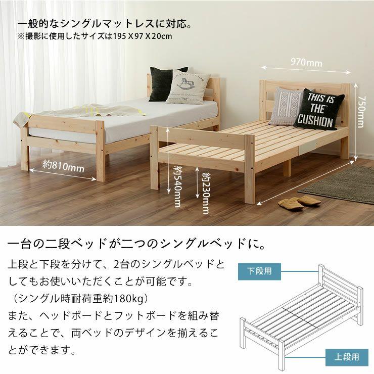 特許申請中!国産ひのき香るセパレート式二段ベッド_詳細11