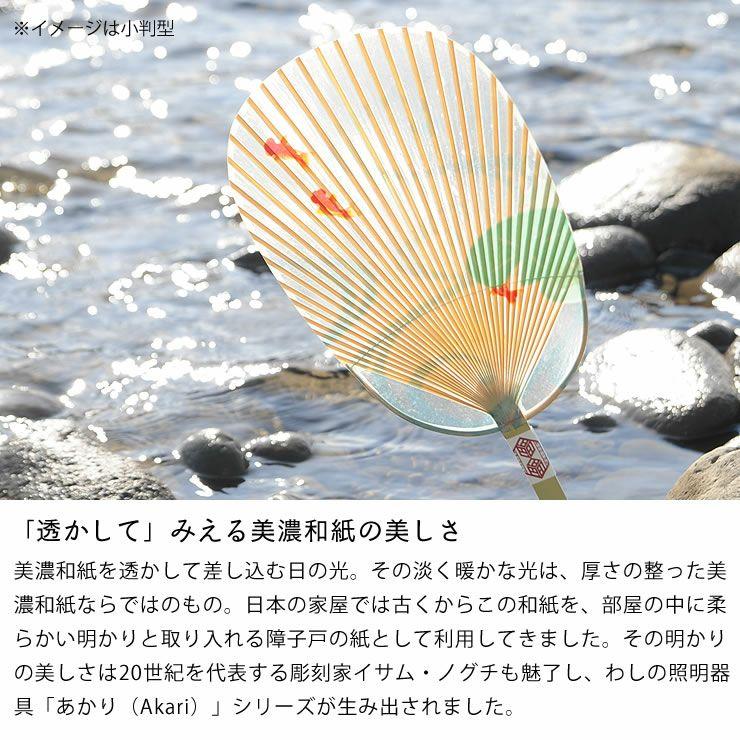 カミノシゴト(家田紙工)水うちわ小丸(1枚)台座付_詳細07