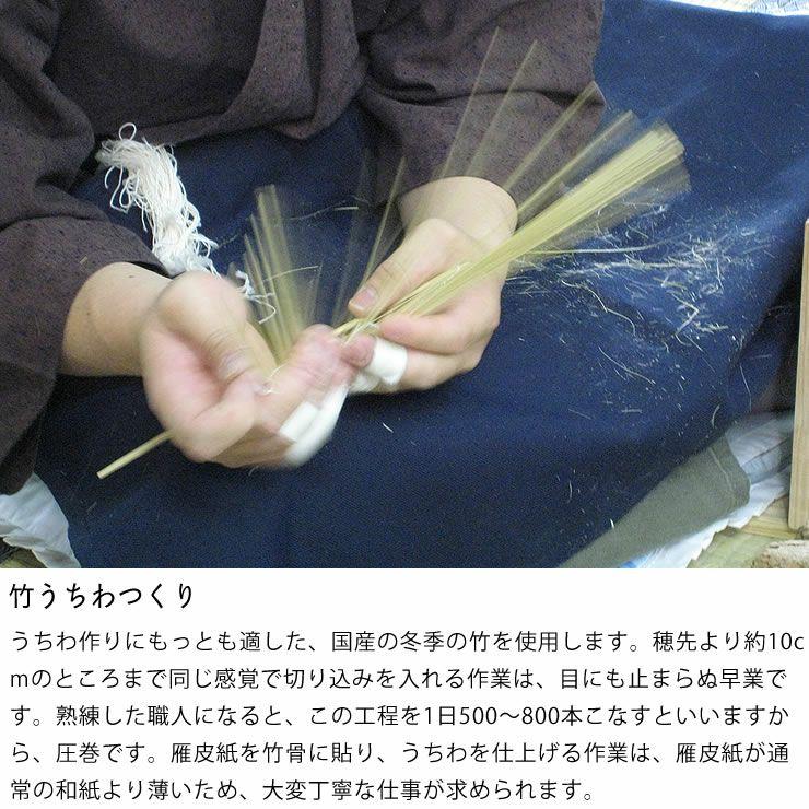 カミノシゴト(家田紙工)水うちわ小丸(1枚)台座付_詳細10