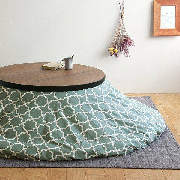 円形こたつテーブル90cm ナラ材/ウォールナット材 折れ脚タイプ_詳細02