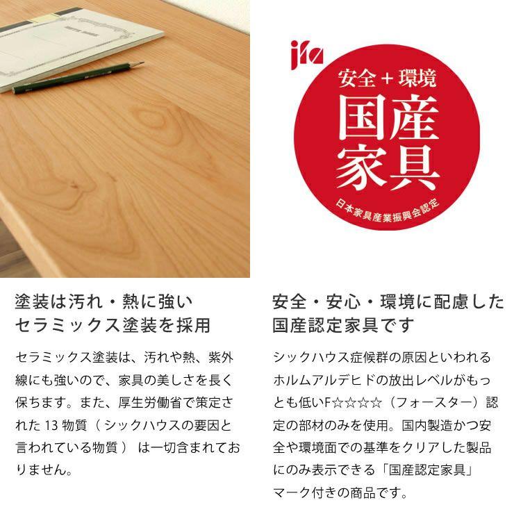 お部屋に合わせてサイズが選べるシンプルでスリムな学習机セット(幅150~180×奥行40×高73cm)_詳細10