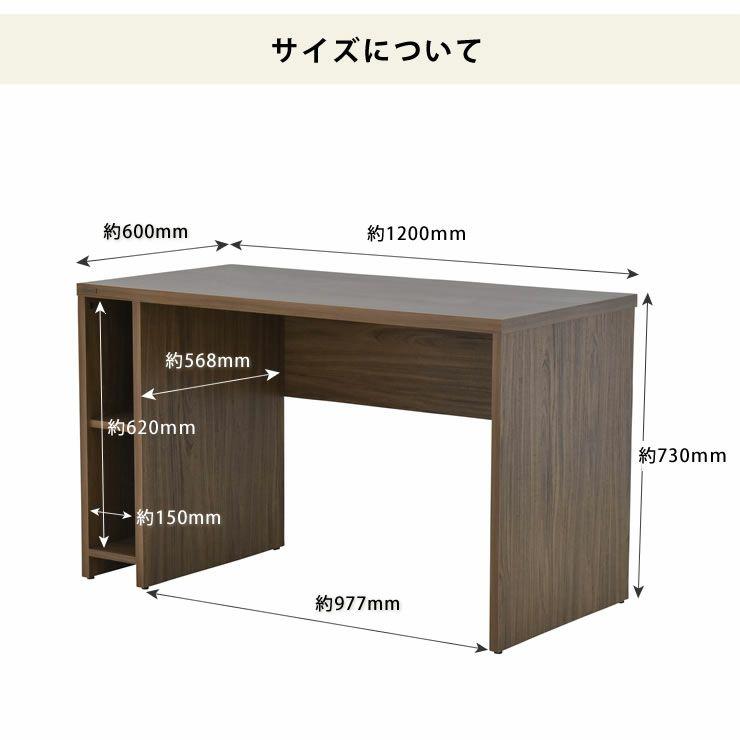 シンプルなパソコンデスク120cm幅_詳細12