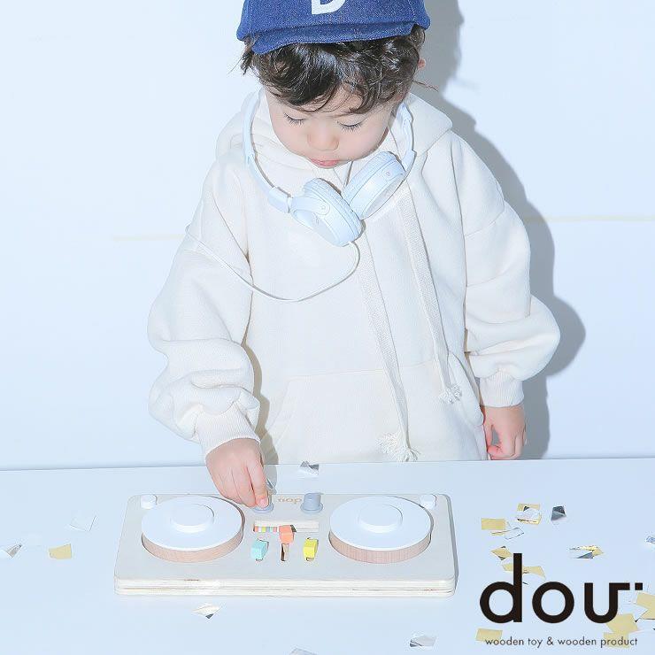ターンテーブル型楽器のおもちゃ「dou?」LITTLEDJ 木のおもちゃ_詳細01