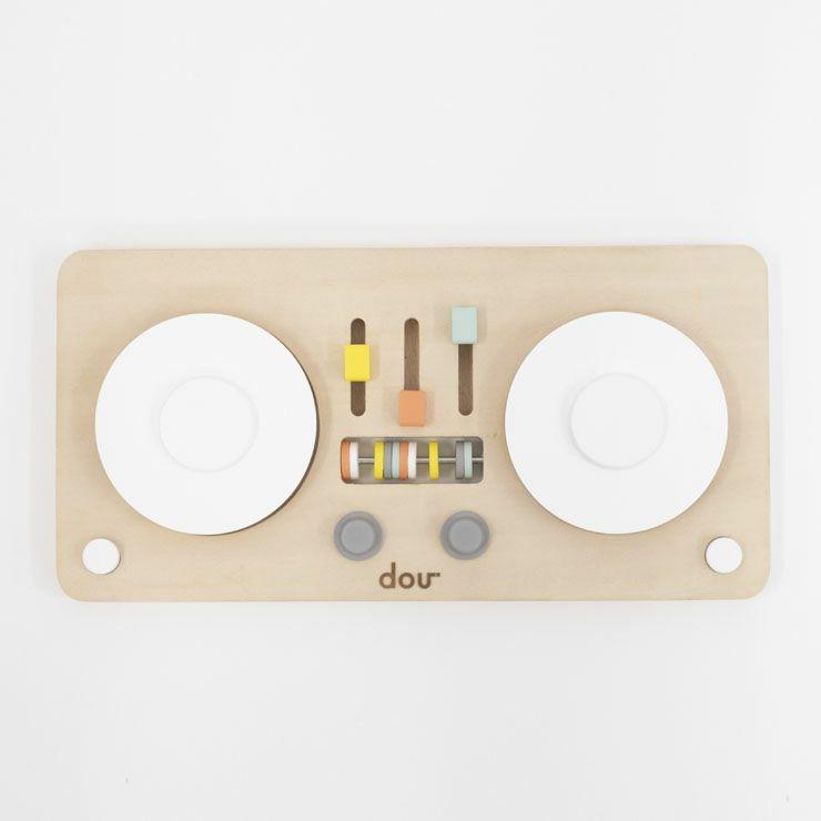 ターンテーブル型楽器のおもちゃ「dou?」LITTLEDJ 木のおもちゃ_詳細02