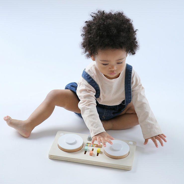 ターンテーブル型楽器のおもちゃ「dou?」LITTLEDJ 木のおもちゃ_詳細03