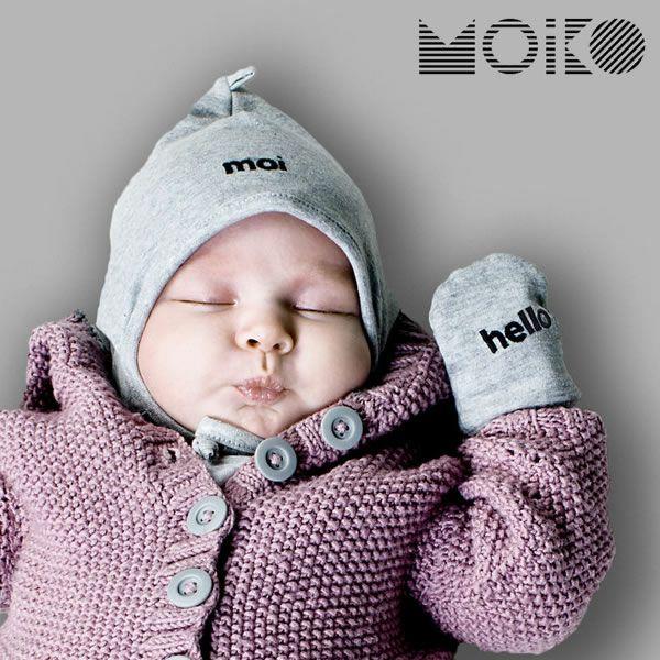 ベビーミトン&ボンネット セット「MOIKO」GREETING GIFT SET FOR BABIES (MOI-HELLO)_詳細01