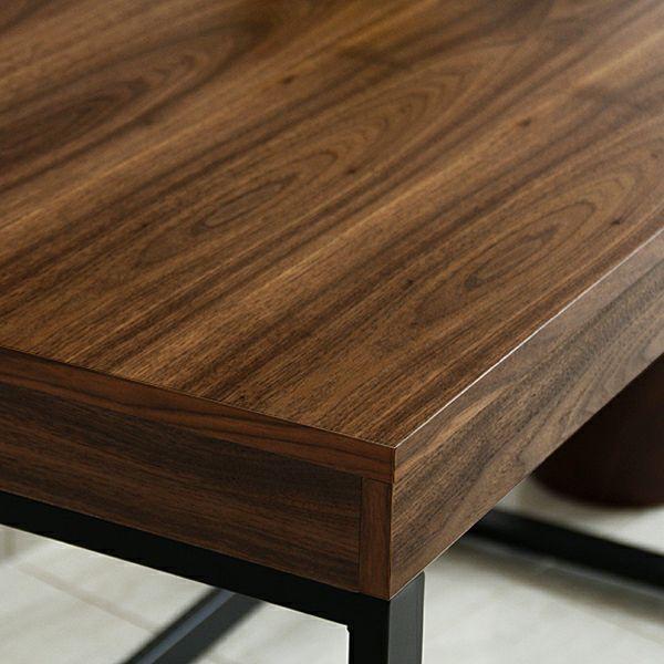 深みのある色合いのウォールナット木製デスク120cm幅_詳細02